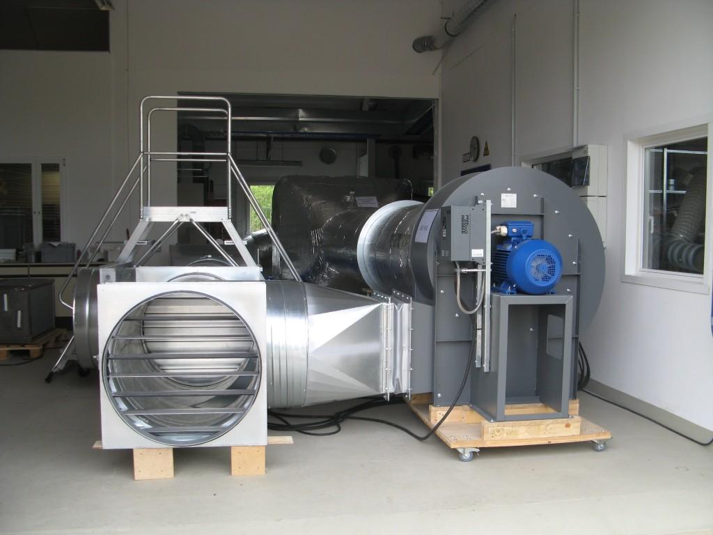 Prüfstand für 20.000 m³/h