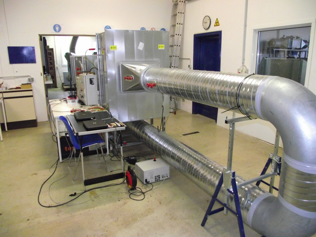 Customer-specific test bench for electrostatic filters